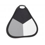 Blenda triunghiulara cu maner silver-grey card 60cm