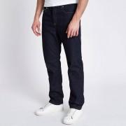River Island Mens Dark Blue Bobby standard jeans (Size 32 regular)