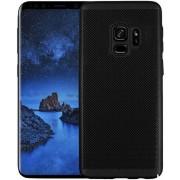 Protectie spate Senno Rock Slim Air Plastic pentru Samsung Galaxy S9 (Negru)