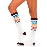 Leg Avenue Carnaval sokken met tekst