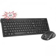 Безжични клавиатура и мишка Delux KA180G+M391GX без кирилизация, Черна, KA180G+M391GX_VZ