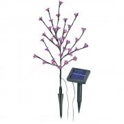 Napelemes, leszúrható LED-es kertilámpa, virág forma (578227)