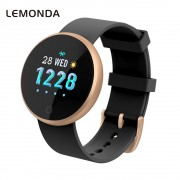 LEMONDA WB36 1.04-inch Screen Fitness Tracker Smart Sports Bracelet Heart Rate Female Physiological Reminder for IOS Android - Black