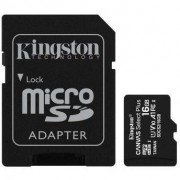 Card de memorie MicroSD Kingston Canvas Select Plus, 16GB, UHS-I, Class 10 + Adaptor SD