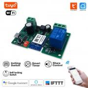 """1 kanálový bezdrôtový prepínač WiFi 5V/7-32V -""""Selflocking"""" Tuya Smart Life"""