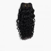 Rapunzel® Extensions Naturali Hair Weft Curly Curls 1.0 Black 35 cm