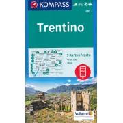 Wandelkaart - Fietskaart 683 Trentino | Kompass