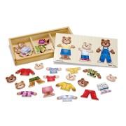 Set de joaca - Imbraca familia de ursuleti