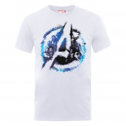 Marvel Camiseta Marvel Los Vengadores Logo Avengers Pintura - Hombre - Blanco - XXL - Blanco