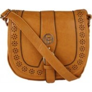 Lino Perros Women Tan Leatherette Sling Bag