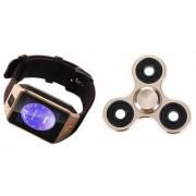 Zemini DZ09 Smart Watch and Fidget Spinner for LG OPTIMUS L7 II DUAL(DZ09 Smart Watch With 4G Sim Card Memory Card| Fidget Spinner)