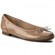 Балеринки CLARKS - Couture Bloom 261339924 Nude Patent