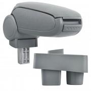 [pro.tec] Márkaspecifikus kartámasz / könyöklő autóba - Skoda Roomster + Skoda Fabia II modellekhez - szövet - szürke