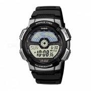 reloj de diseno deportivo digital estandar casio AE-110W-1A - negro y plateado (sin caja)