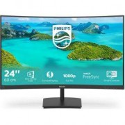 Philips E Line 241E1SCA/00 computer monitor 59,9 cm (23.6 ) Full HD LCD Gebogen Mat Zwart