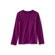 Lands' End Langarm-Shirt mit Brusttasche für kleine Jungen - Lila - 122/128 von Lands' End