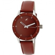 Fastrack Monochrome Analog Red Dial Womens Watch - 6078SL06