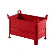 Heson Vollwand-Stapelbehälter BxL 500 x 800 mm, Traglast 1000 kg rot, ab 10 Stk