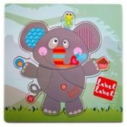 Puzzle Din Lemn Label Label Elefant