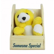 SPERO soft toy special Heart Teddy For Someone Special Girls/Boys And Special Gift Item/teddy for kids-YELLOW 19Cm (Pack