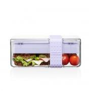 Bodum BISTRO Lunch box compartimentée en TRITAN, avec set de 4 couverts Verbena