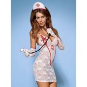 Obsessive (POL) Strój Pielęgniarki Kostium 5-częściowy + Stetoskop L/XL 100% DYSKRECJI BEZPIECZNE ZAKUPY