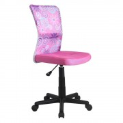 Scaun birou copii mesh HM Dingo roz