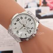 yoonheel Dames Modieus horloge Kwarts Metaal Band Zilver Wit Zwart
