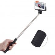 Selfie stick negru cu bluetooth si buton