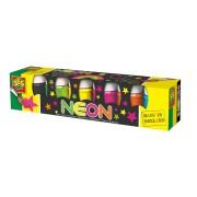 Plakkaatverf in neon kleuren SES: 6x50 ml