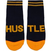 Soxytoes Hustle Blue Cotton Ankle Length Pack of 1 Pair Unisex Casual Socks (STS0095)