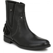 Delize Black Formal Boots For Men's