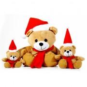 Kerstdecoratie kerstberen knuffeltje 15 cm