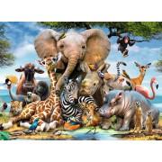 Puzzle Ravensburger - Prietenii Africani, 300 piese (13075)