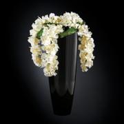Aranjament floral OSLO IN SHINY VASE, negru 130cm