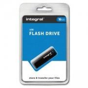 USB Flash памет Integral Black USB 2.0, 16GB, INTBLK16GB