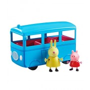 Planet Superheroes Push Along School Bus with Peppa Pig and Mrs Rabbit Figures