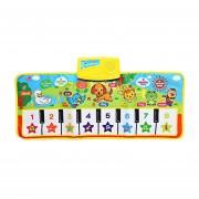 EY Música De Piano Musical Inglés Kids Play Alfombras Mat Juguete Electrónico Educativo-Varios Colores