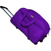 YES STYLE (Expandable) Stylish 40 Liters Travel duffel Trolley Bag With Spacious Compartment Duffel Strolley Bag(Purple)