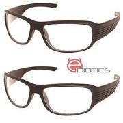 Ediotics Set of 2 Night Driving Sunglasses- Transparent