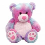 Geen Warmte knuffelbeer in regenboog kleuren met lavendel olie