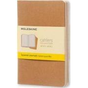 Moleskine Squared Cahier - Color: Kraft Brown by Moleskine