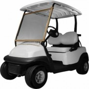 Classic Accessories Deluxe Portable Golf Cart Windshield - Sand (Brown)/Clear, Model 40-001-012401-00