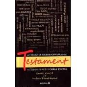 Testament. Antologie de poezie romaneasca moderna ed.2 - Daniel Ionita