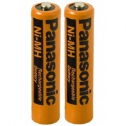 2 Pack Panasonic NiMH AAA Rechargeable Battery for Cordless Phones