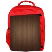 Snoogg Eco Friendly Canvas Wood Wall Pattern Design Designer Backpack Rucksack School Travel Unisex Casual Canvas Bag Bookbag Satchel 5 L Backpack(Red)