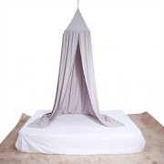 Gray : Baby Bedding Round Dome Bed Canopy Kids Play Tent Hanging Mosquito Net Curtain For Baby Kids Reading Playing Sleeping Room Decoration, Gray
