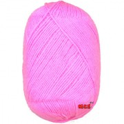 M.G Big Pink 400 gm hand knitting Soft Acrylic yarn wool thread for Art & craft Crochet and needle