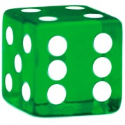 Green Dice - 19 mm