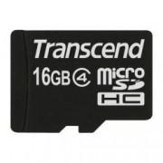 Transcend Scheda di memoria MicroSDHC Transcend TS16GUSDC4 16Gb Classe 4